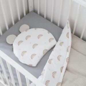 שמיכה וכרית דובון לתינוק – קשתות